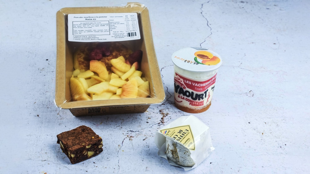 yaourt brownie fromage et pommes