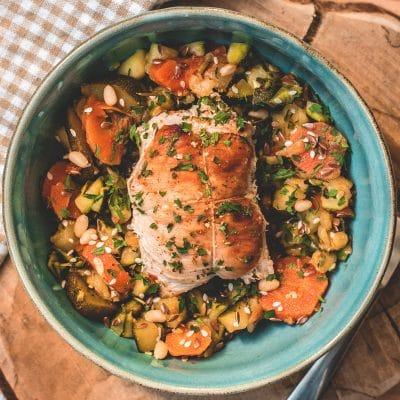 Paupiette de volaille et légumes378 calories