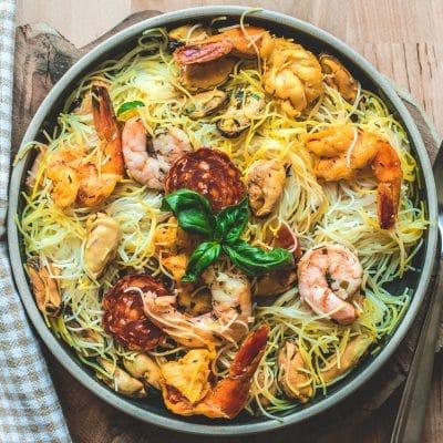 Salade de moules vermicelles de riz313 calories
