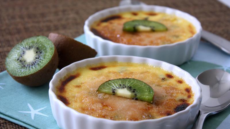 image mise en avant crème brûlée kiwi