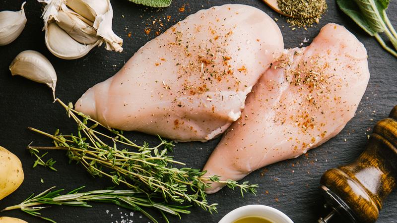 photo blanc de poulet cru